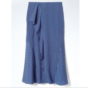 🌟 {Banana Republic} Ruffle Stripe Maxi Skirt